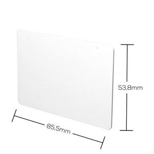 Cartão Branco de PVC para Impressão - Akiyama - 100 unidades