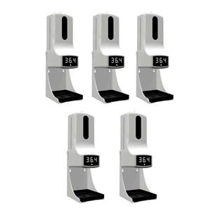 Kit 5 unidades Medidor de Temperatura Externo com Dispenser de Álcool