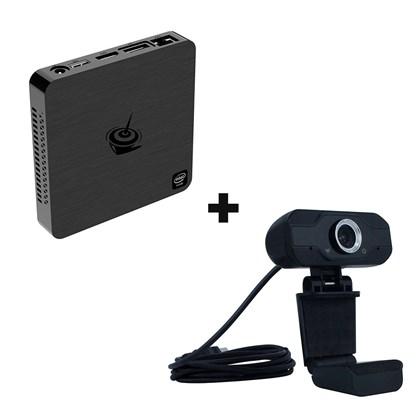Kit Mini Pc Beelink BT4 Intel Atom X5-Z8500 4GbRAM 64GB com Webcam